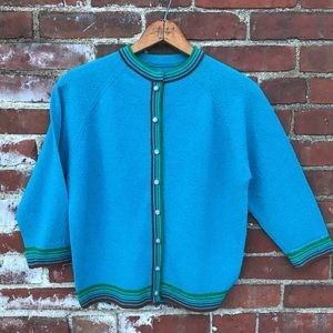 1950's Iridescent Buttoned Sweater